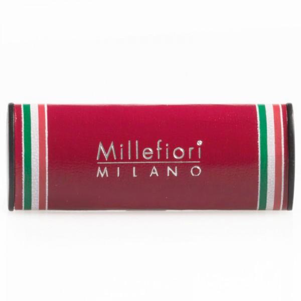 Millefiori Autoduft Urban Mirto - kirschrote Lederhülle