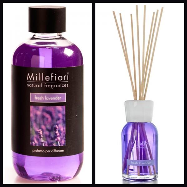 Millefiori Fresh Lavender Diffuser + Nachfüllflasche - Sparset