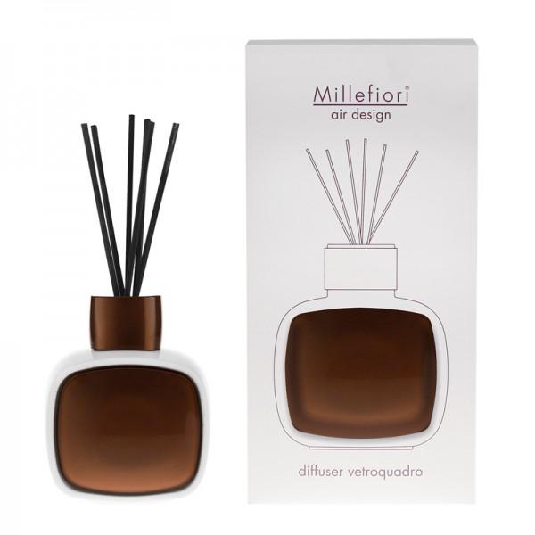 Millefiori Designdiffuser weiß/braun - Glaskaro