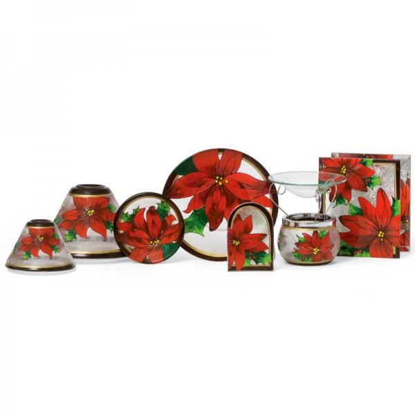 Yankee Candle Großes Kerzentablett Roter Weihnachtsstern