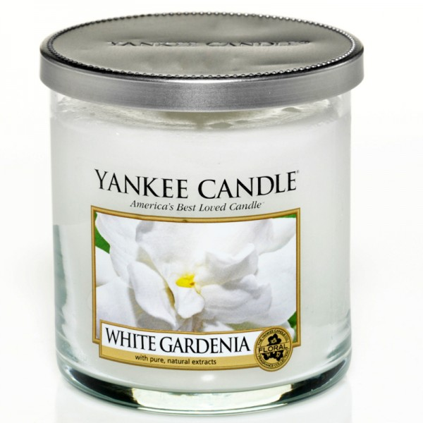 Yankee Candle White Gardenia - Perfect Pillar - inkl. Gratis Stabfeuerzeug *