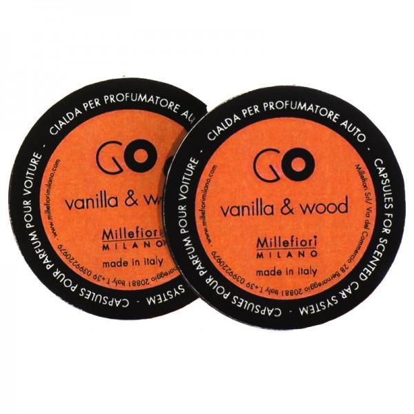 Millefiori Autoduft Go Vanilla & Wood Nachfüller