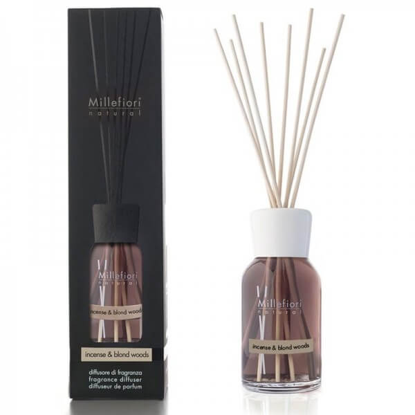 Millefiori White Incense & Blond Woods Diffuser – Natural Fragrances