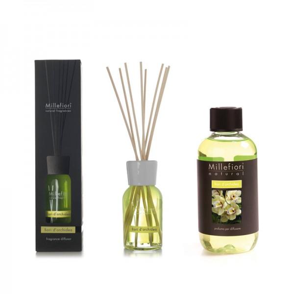 Millefiori Fiori d`Orchidea Diffuser + Nachfüllflasche - Sparset