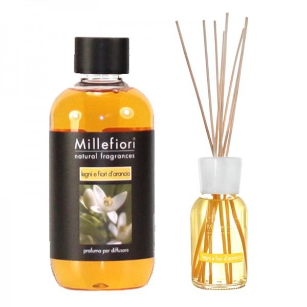 Millefiori Legni e Fiori d`Arancio Diffuser + Nachfüllflasche - Sparset