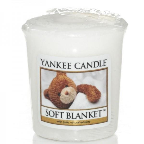 Yankee Candle Soft Blanket - Votivkerze - inkl. Gratis Stabfeuerzeug *