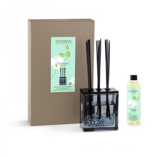 Estéban Orchidee blanche Diffuser - bouquet parfumé triptyque