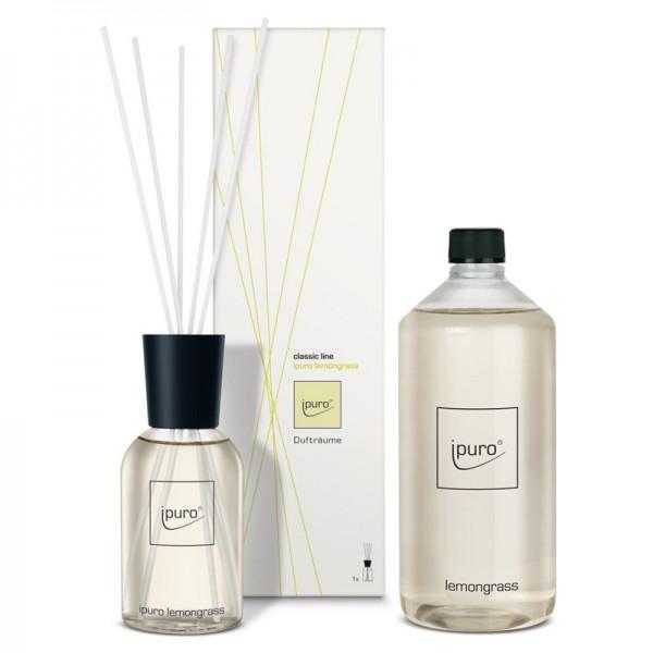 ipuro lemongrass Diffuser + Nachfüllflasche - Sparset