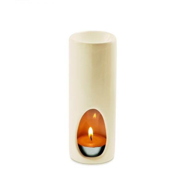 Estéban Duftlampe Zylinder beige oder schwarz