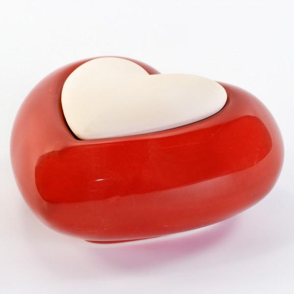 Millefiori Keramik Zierdiffuser - Lovely Herz rot