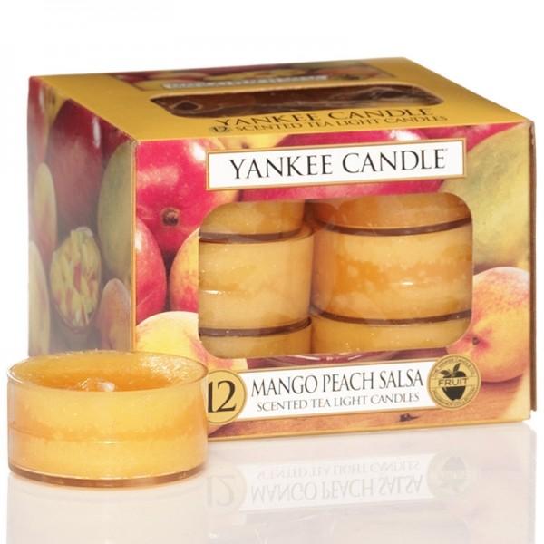 Yankee Candle Mango Peach Salsa - Teelicht - inkl. Gratis Stabfeuerzeug *