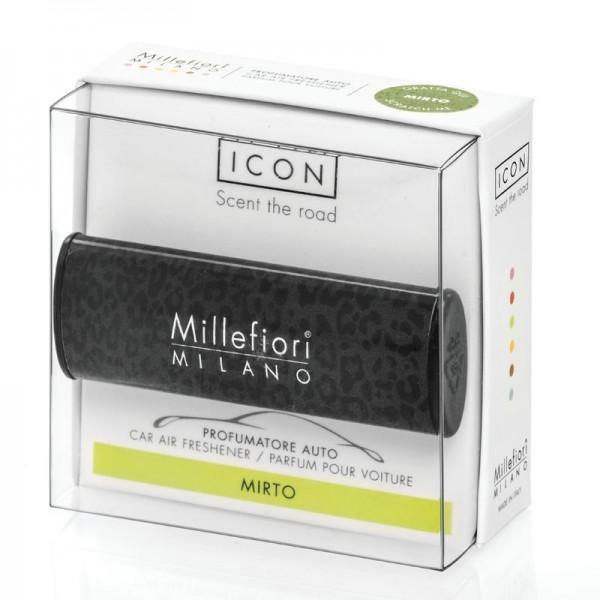Millefiori Autoduft Animalier Mirto - schwarzer Leopardenoptik
