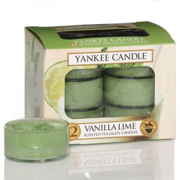 Yankee Candle Vanilla Lime - Teelicht - inkl. Gratis Stabfeuerzeug *