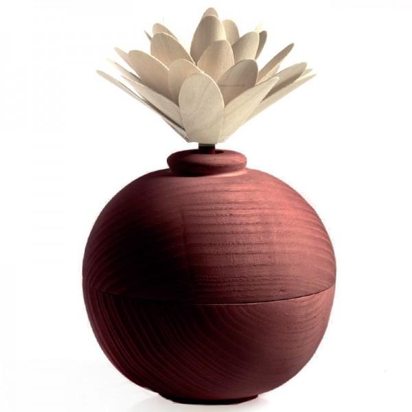 Millefiori Zierdiffuser Blume aus Holz - rot