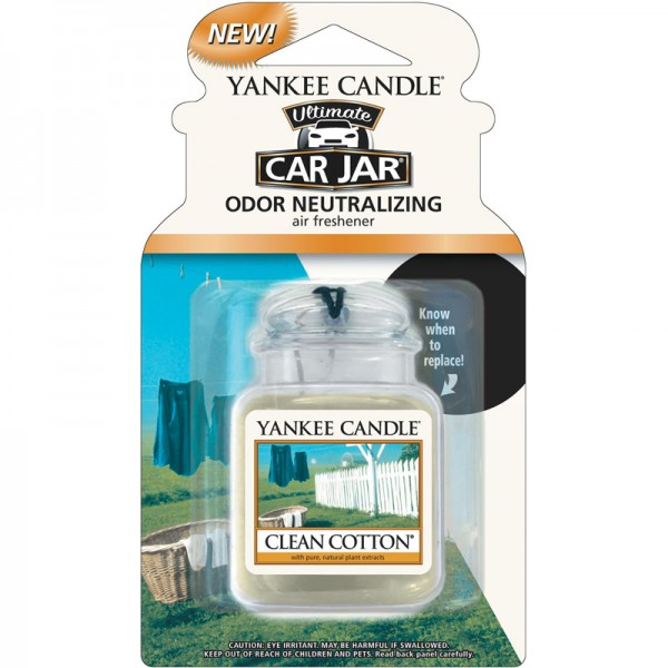 Yankee Candle Autoduft Clean Cotton - Car Jar Ultimate
