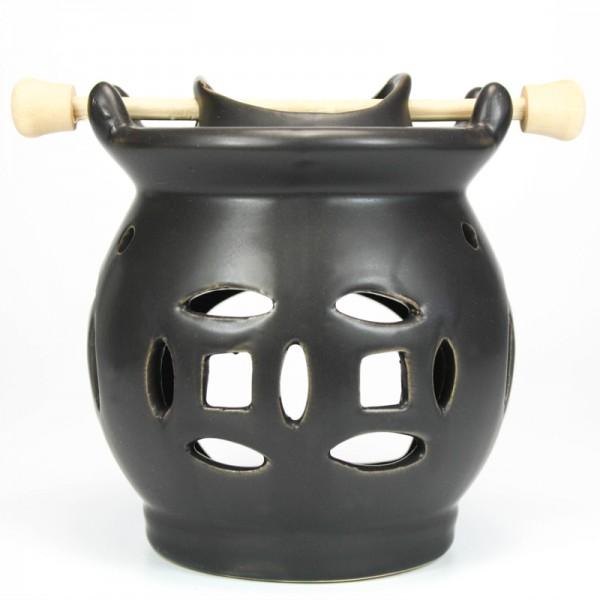 Pajoma Duftlampe mit Keramik mit Holzgriff