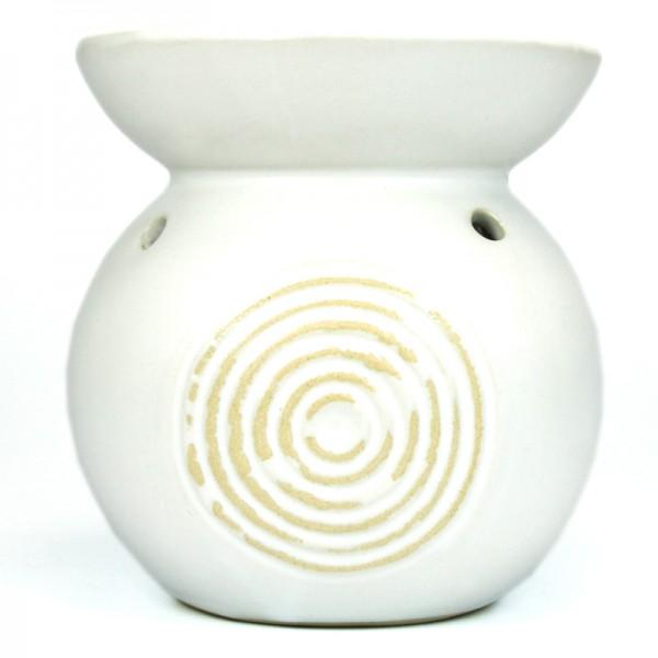 Pajoma Duftlampe mit Relief weiß oder schwarz