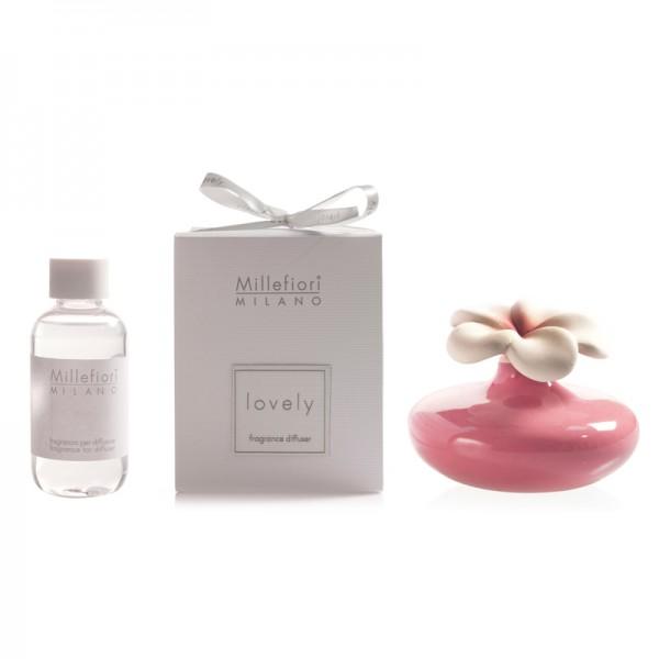 Millefiori Zierdiffuser Blume - rosa - Sparset - mit Duftauswahl