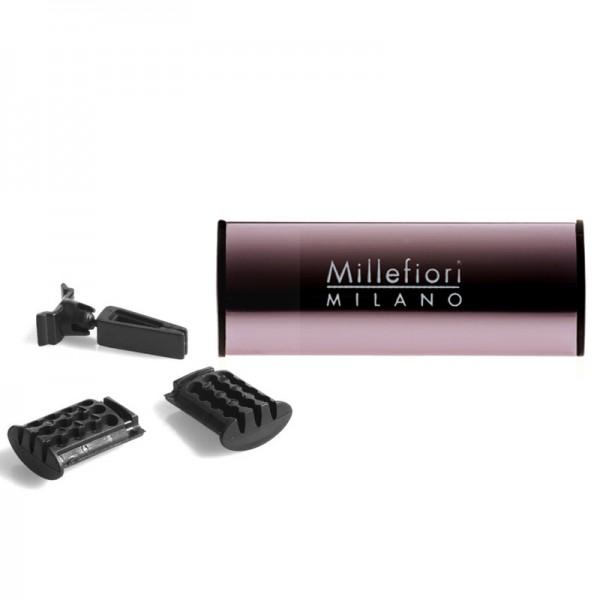 Millefiori Autoduft Pompelmo - Metall glänzend + Nachfüller - Sparset