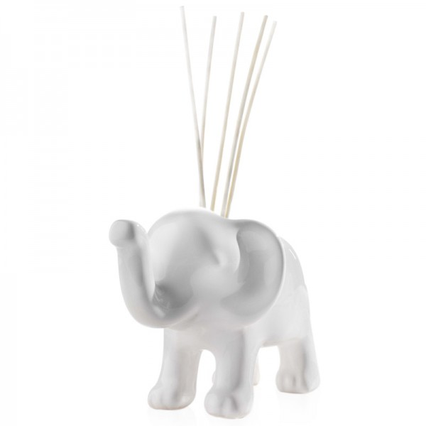 Millefiori Zierdiffuser Elefantenbaby - weiß