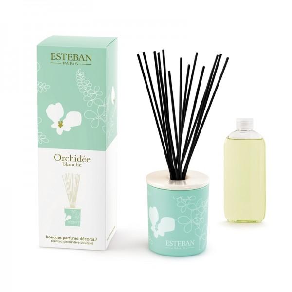 Estéban Orchidee blanche Diffuser - bouquet parfumé décoratif