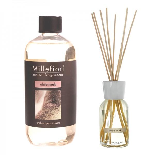 Millefiori White Musk Diffuser + Nachfüllflasche - Sparset