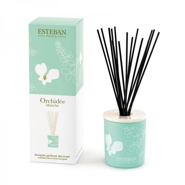 Estéban Orchidée blanche Diffuser + Nachfüllflasche - eckig - Sparset