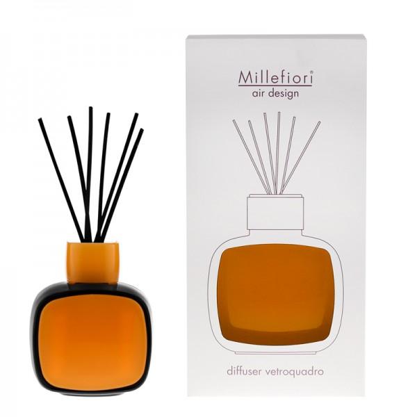 Millefiori Designdiffuser schwarz/orange - Glaskaro