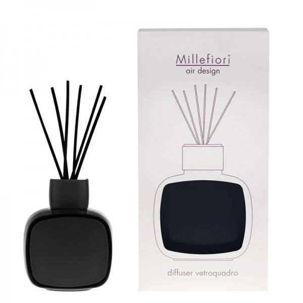Millefiori Designdiffuser schwarz/schwarz - Glaskaro