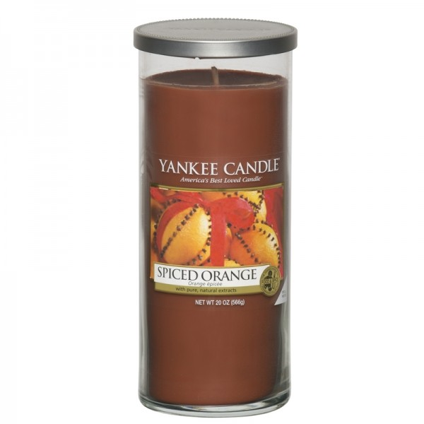 Yankee Candle Spiced Orange - Perfect Pillar - inkl. Gratis Stabfeuerzeug *