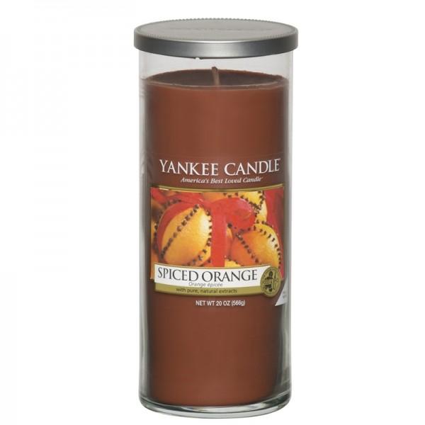 Yankee Candle Spiced Orange - Perfect Pillar - inkl. Gratis Stabfeuerzeug