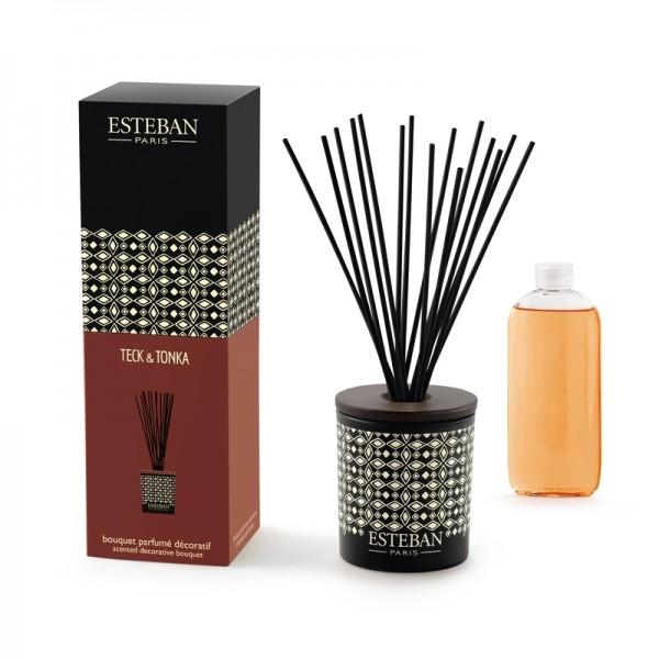 Estéban Teck & Tonka Diffuser - bouquet parfumé décoratif