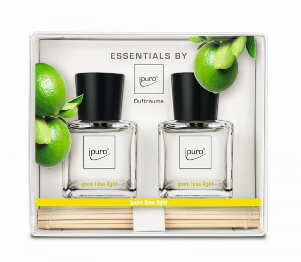 ipuro Raumduft Lime Light Diffuser Geschenkset - Essentials