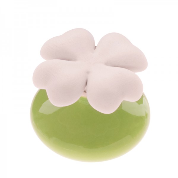 Millefiori Keramik Mini Zierdiffuser Kleeblatt - grün
