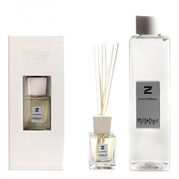 Millefiori Zona Rose madelaine Diffuser + Nachfüllflasche - Sparset