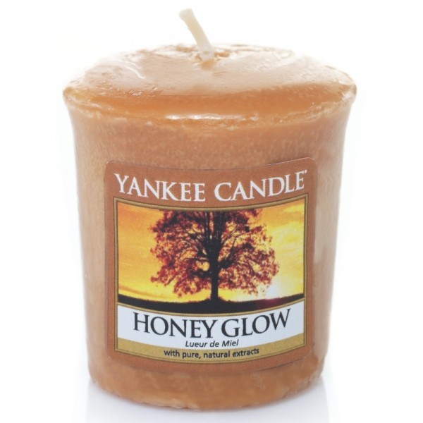 Yankee Candle Honey Glow - Votivkerze - inkl. Gratis Stabfeuerzeug *