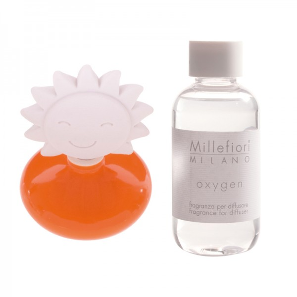 Millefiori Keramik Mini Zierdiffuser Sonne - orange - Sparset - mit Duftauswahl