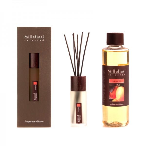 Millefiori Selected Orange Tea Diffuser + Nachfüllflasche - Sparset