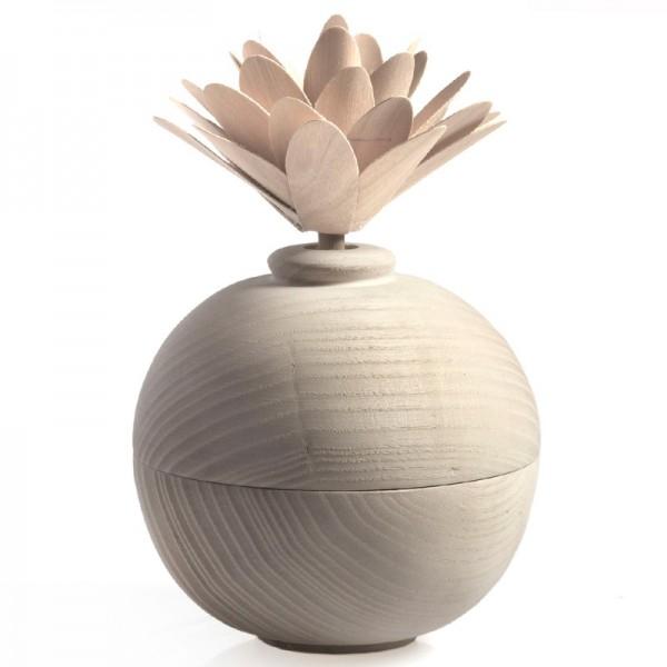 Millefiori Zierdiffuser Blume aus Holz - weiß