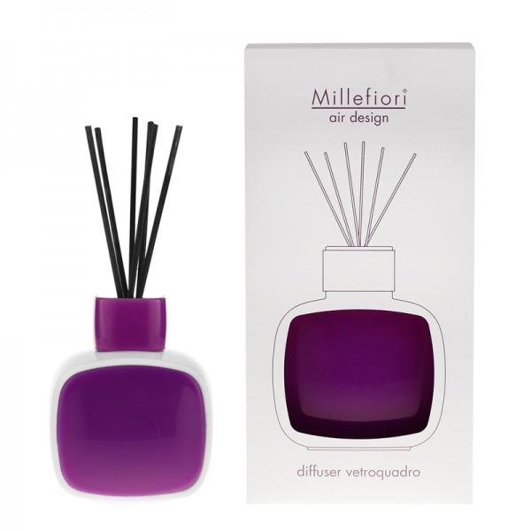 Millefiori Designdiffuser weiß/violett - Glaskaro