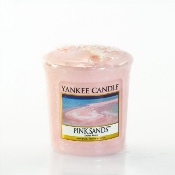 Yankee Candle Pink Sands - Votivkerze - inkl. Gratis Stabfeuerzeug *