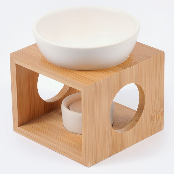 Pajoma Duftlampe Bambus und Keramik