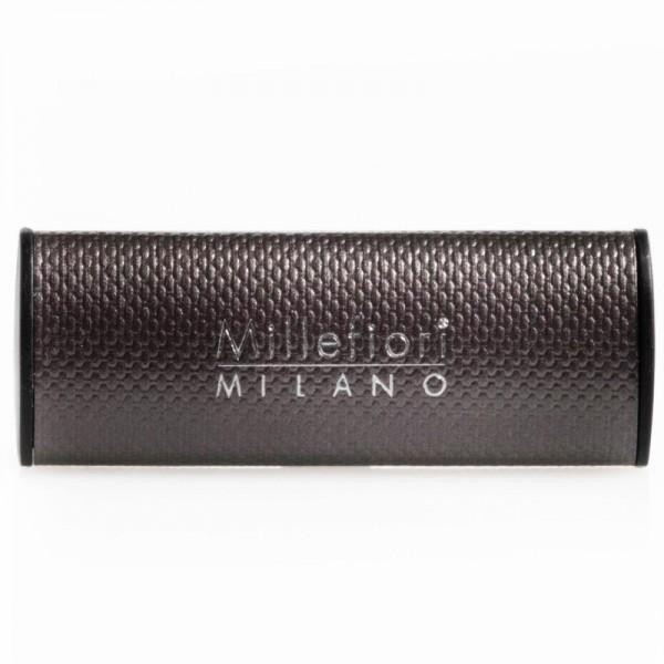 Millefiori Autoduft Sandalo Bergamotto - anthrazitfarbene Lederhülle