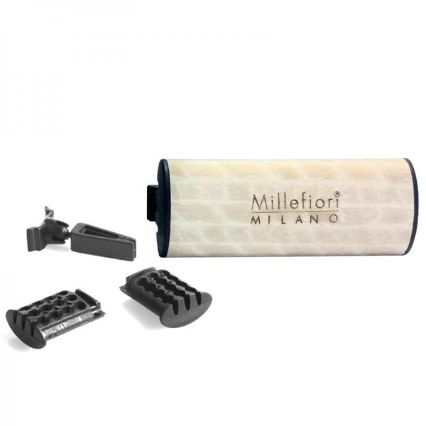 Millefiori Autoduft Wood Monoi + Nachfüller - Sparset