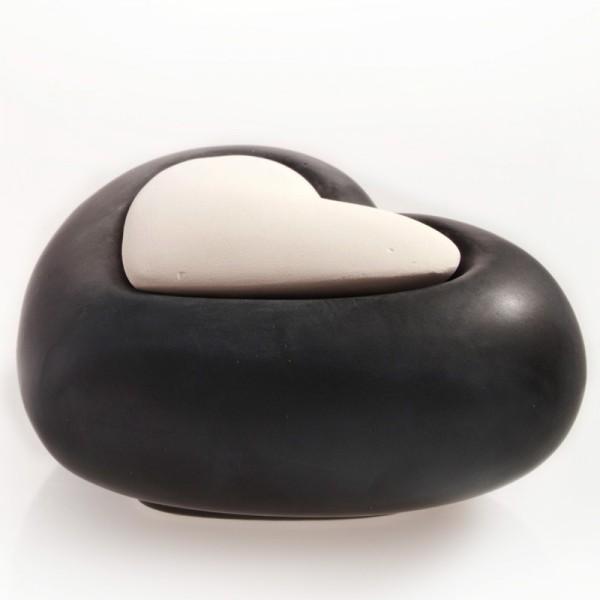 Millefiori Keramik Zierdiffuser - Herz schwarz