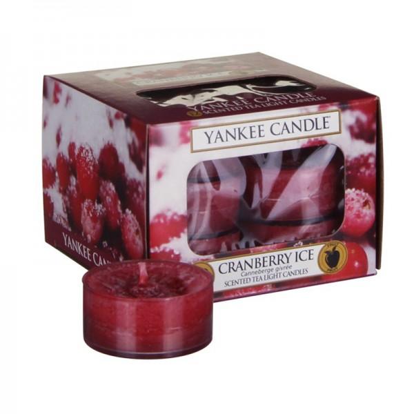 Yankee Candle 12 Teelichter Cranberry Ice Beereneis