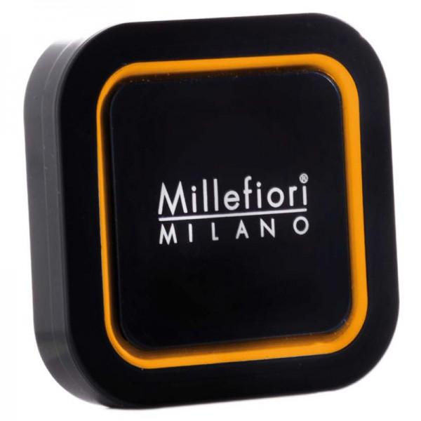 Millefiori Autoduft Cold Water Quadro - Schwarz/Orange