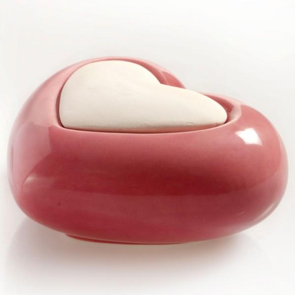 Millefiori Keramik Zierdiffuser - Herz rosa