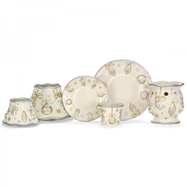 Yankee Candle Kleines Kerzentablett Silber und Gold