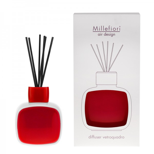 Millefiori Designdiffuser weiß/rot - Glaskaro